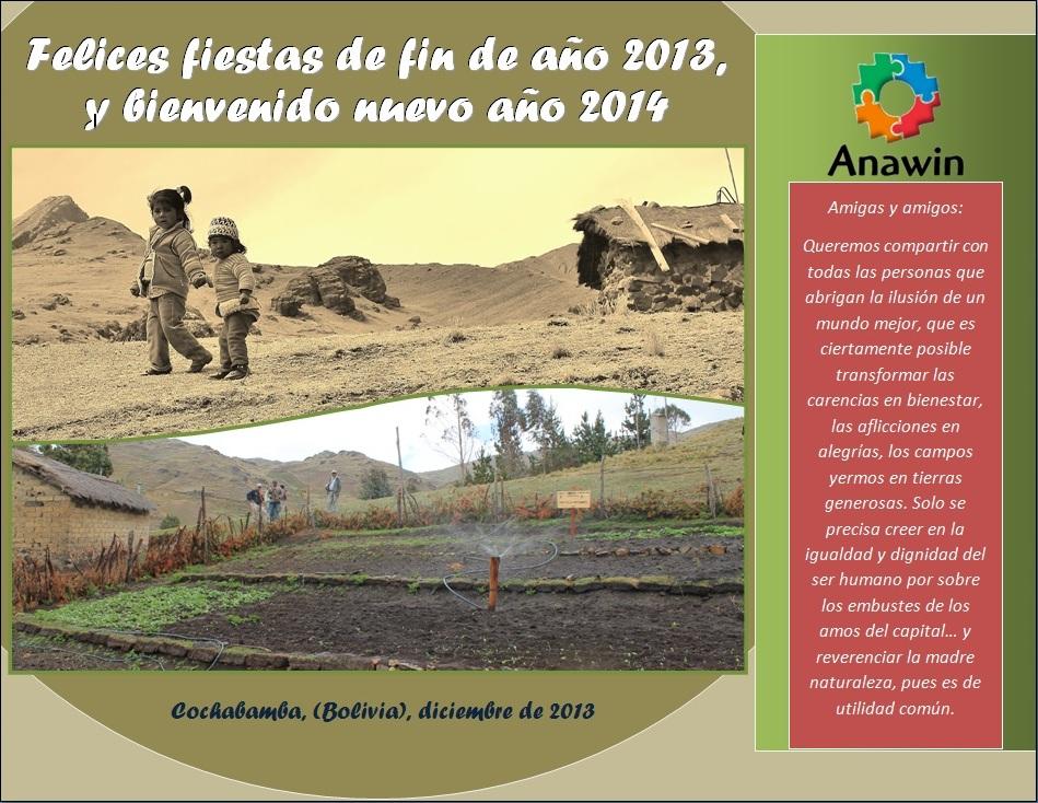 Tarjeta navidad Anawin 2013