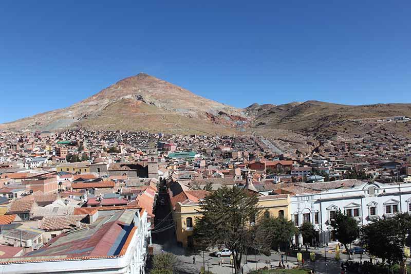 "Potosi mit dem ""Silberberg"" Cerro Rico"