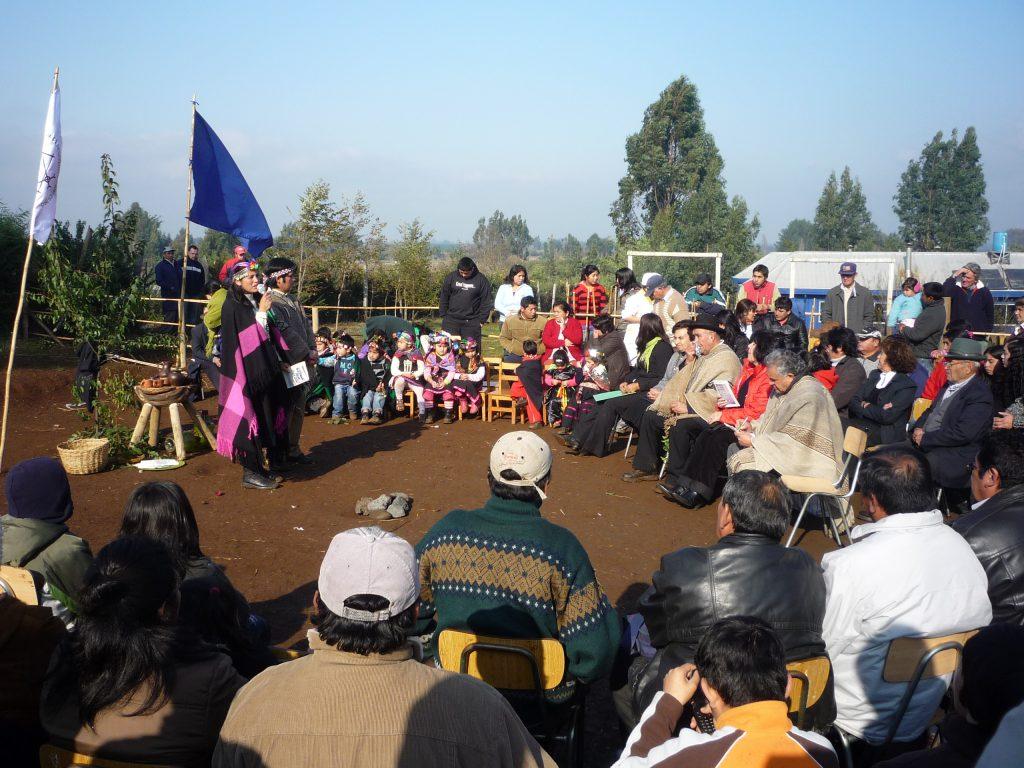Versammlung einer Mapuche Gemeinschaft
